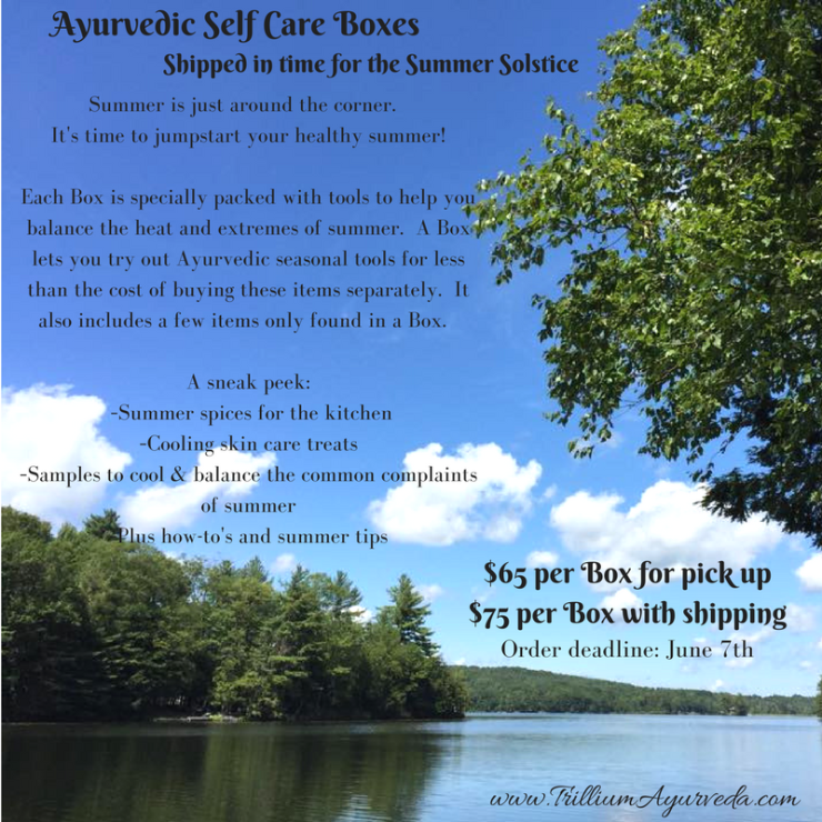 Ayurvedic Self Care Boxes for Summer
