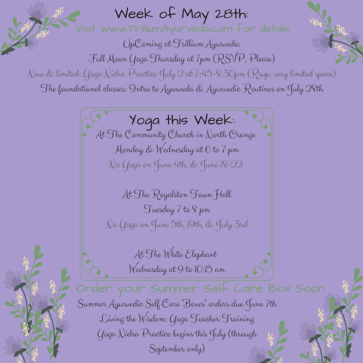 Week of May 7th