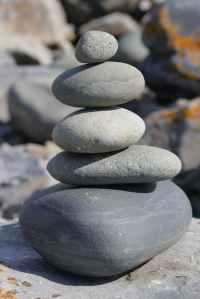 balance balancing boulder close up